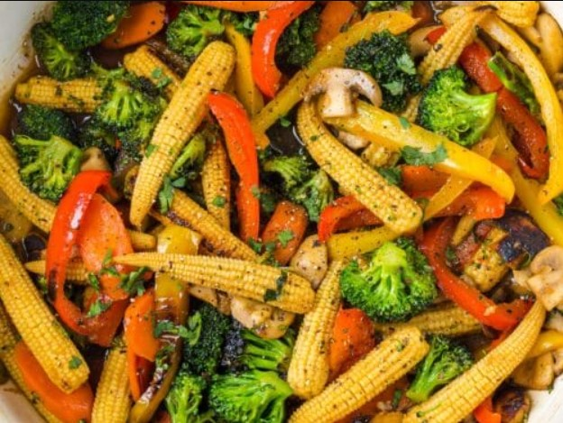 Add vegetables to the sauce