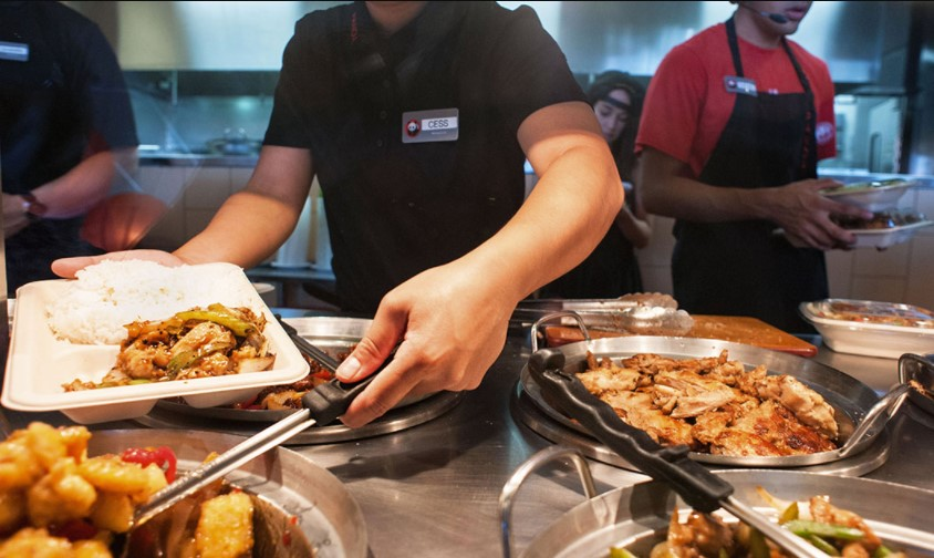 At Panda Express, there are very few dishes for less than 10$