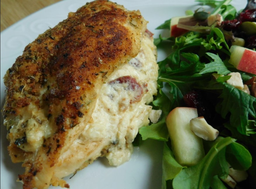 Bacon and cheese stuffed chicken breast