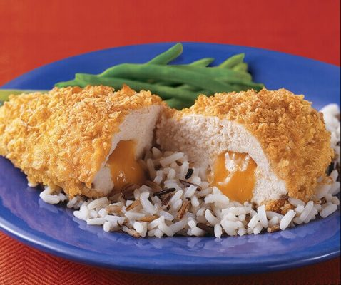 Cheese stuffed chicken breast with cheese