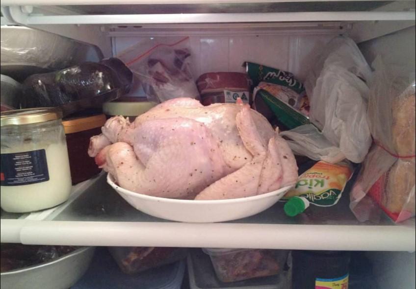 Chicken in the fridge