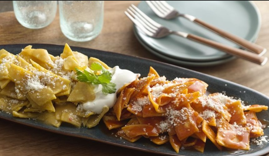 Chilaquiles divorciados is a dish found in Mexican cuisine
