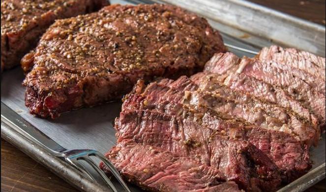 Cook ribeye steaks at 180 degrees Fahrenheit
