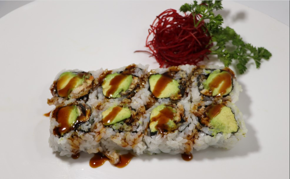 Eel roll sushi is a type of sushi made using rice, egg, and eel rolled