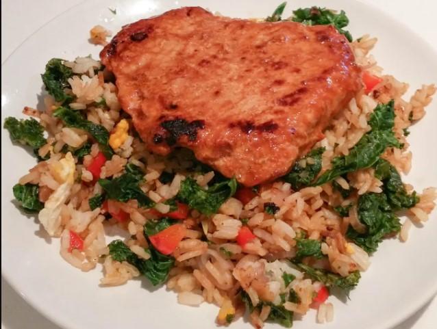 Fried Pork chop & Lemon rice