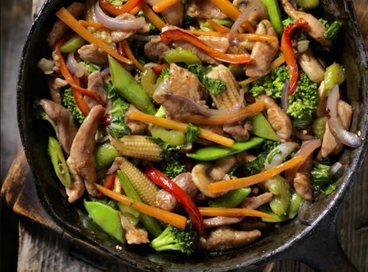 Fried Pork chop & Stir-fried vegetables