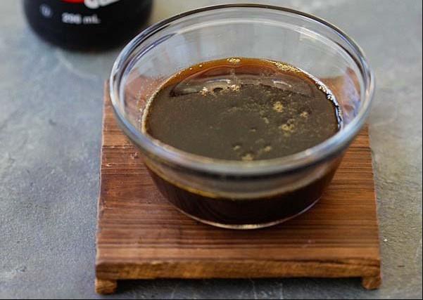 Instructions for making teriyaki sauce for pork