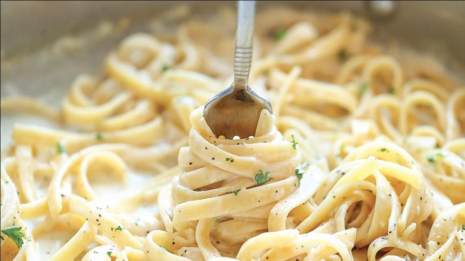 One pot garlic parmesan pasta