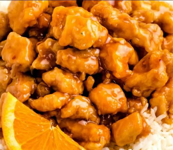 Orange Chicken at Panda Express