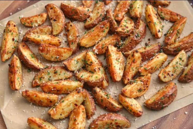 Sides for pork chops dinner & Parsley Parmesan Potatoes