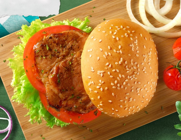 Pork chop & Beef Burger