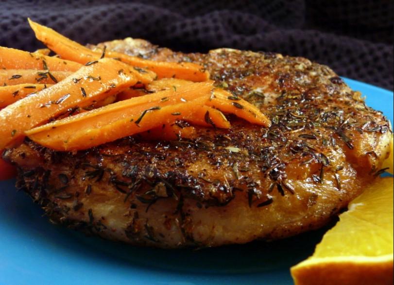 Pork chop & Glazed Carrots