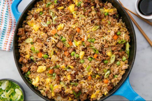 Pork chop & Vegetable Fried Rice