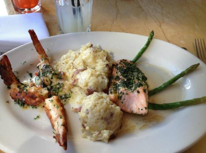 Salmon and Shrimp Scampi