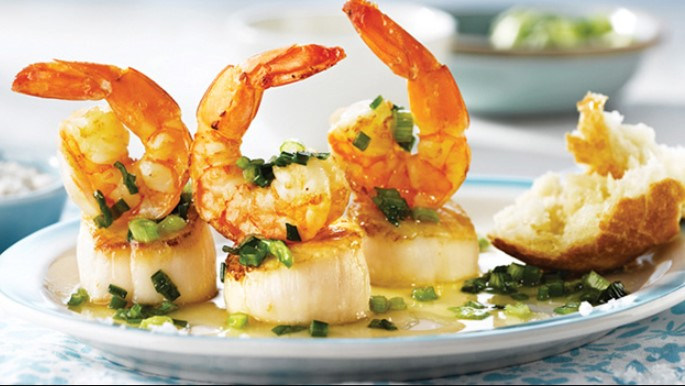 Scallops and Shrimp Sauté