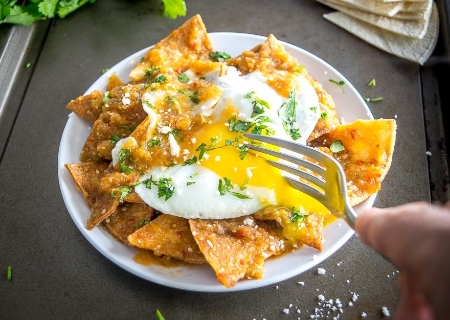 Serve chilaquiles with eggs