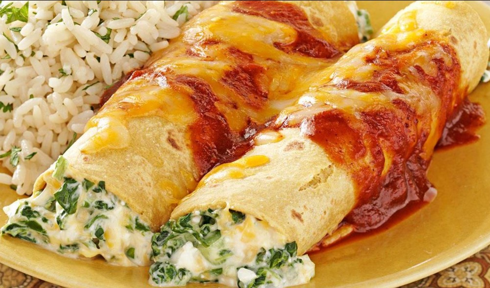 Spinach and Cheese Enchilada