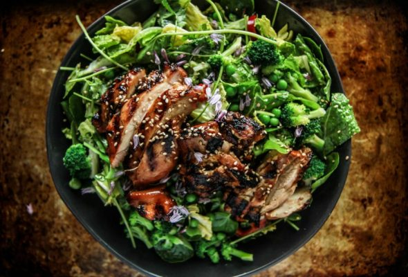 Teriyaki Chicken Salad - Delicious dish not to be missed