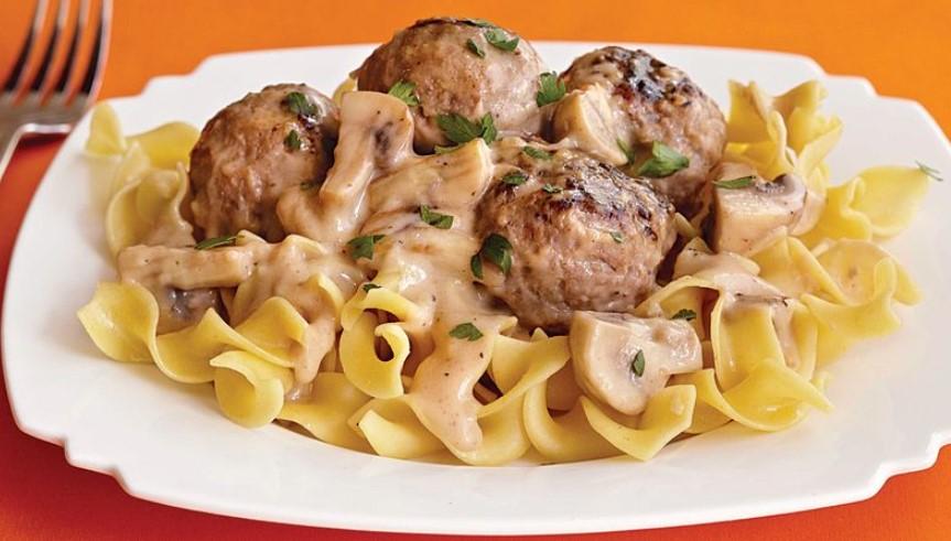 Turkey Meatball Stroganoff