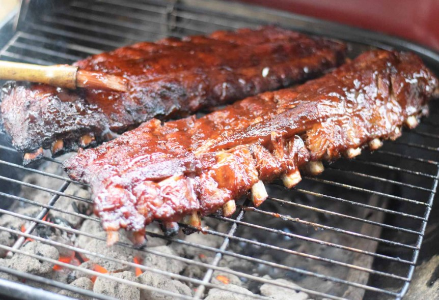 You can cook ribs in a barbecue outside