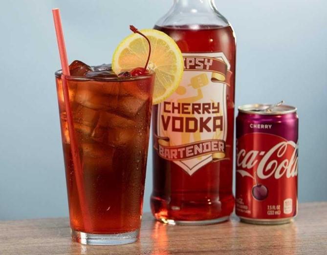 Cherry vodka and coke