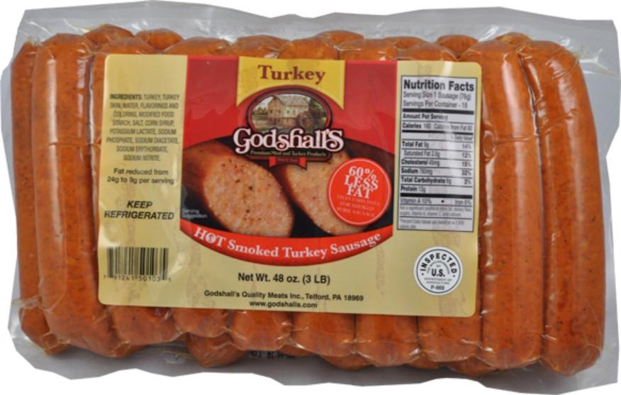 Hot Turkey Sausage