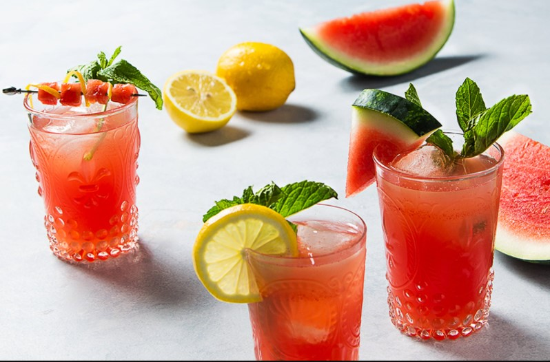 Iced watermelon lemonade