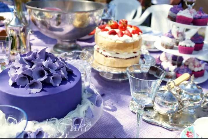 Jacaranda Cake
