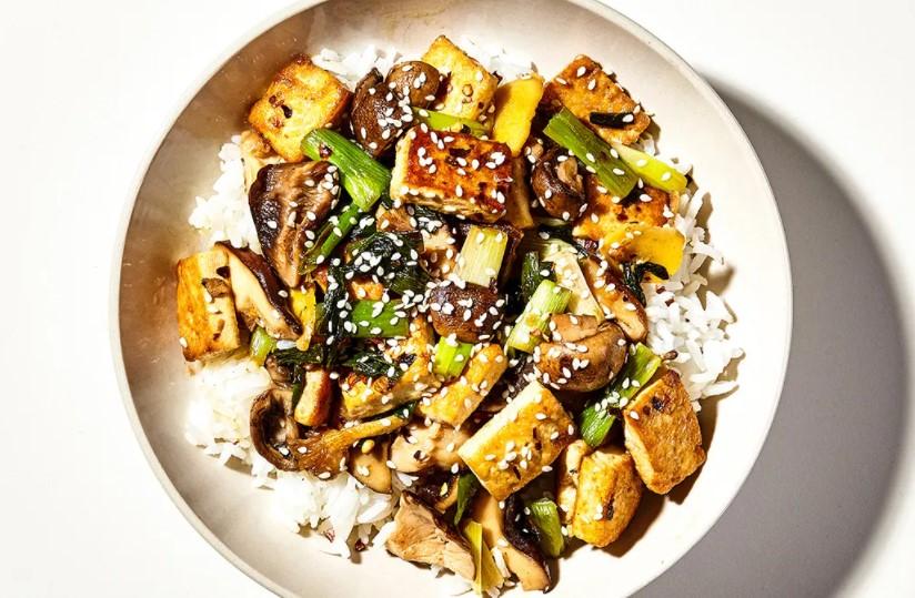 Mushroom & tofu stir fry