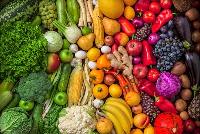 Natural Fruits and Vegetables