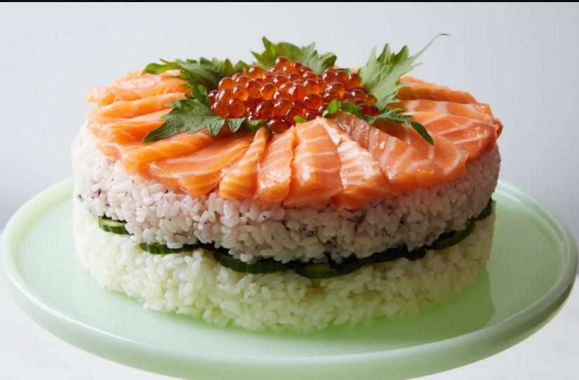 Sushi Rice Cake