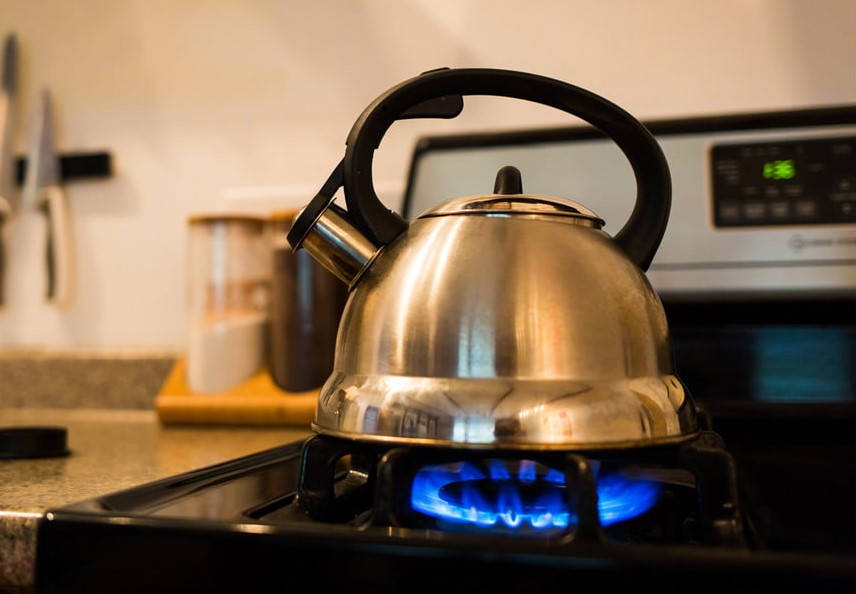 Tea kettles for gas stoves