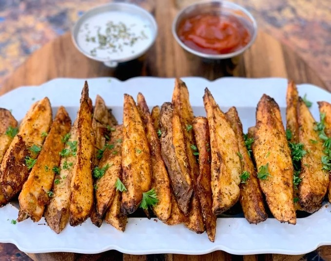 Ingredients for Air Fryer Potato Wedges Recipe